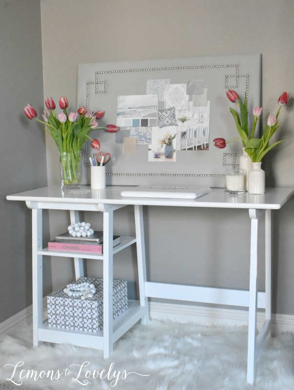 Joyful Spring Home Tour New Desk Area www.lemonstolovelys.com