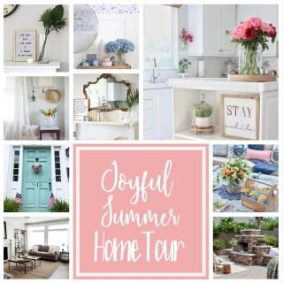 Joyful Summer Home Tour Collage www.lemonstolovelys.com
