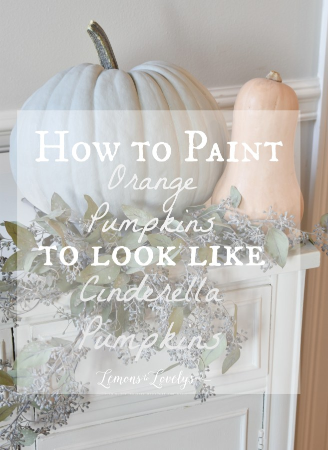 How To Paint Cinderella Pumpkins . More on the blog . www.lemonstolovelys.com