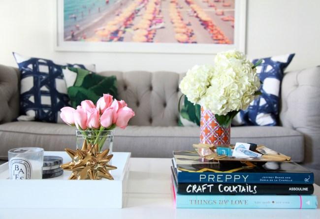 Lemon Stripes Living Room