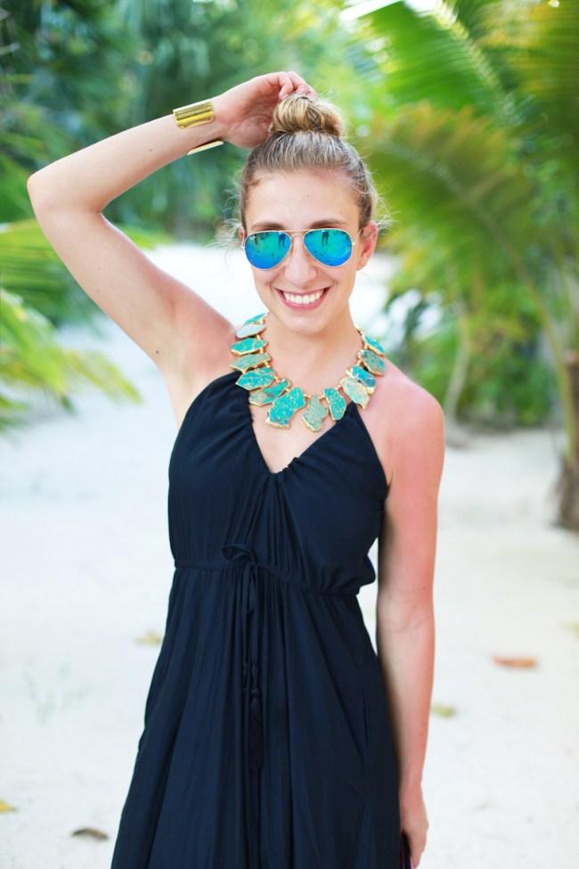 Navy Beach Dress