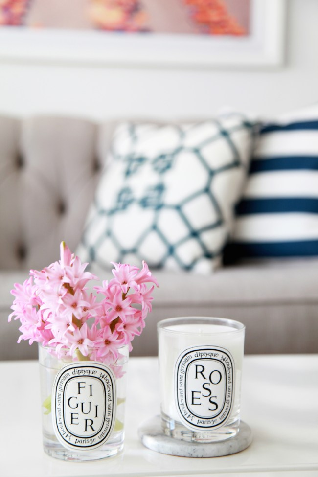 Flowers in Diptique Candles