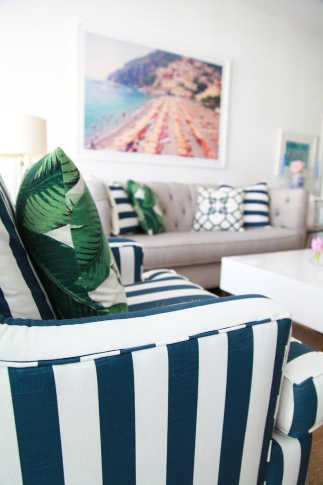 Preppy Living Room Design
