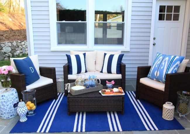 Lemon Stripes outdoor patio furniture