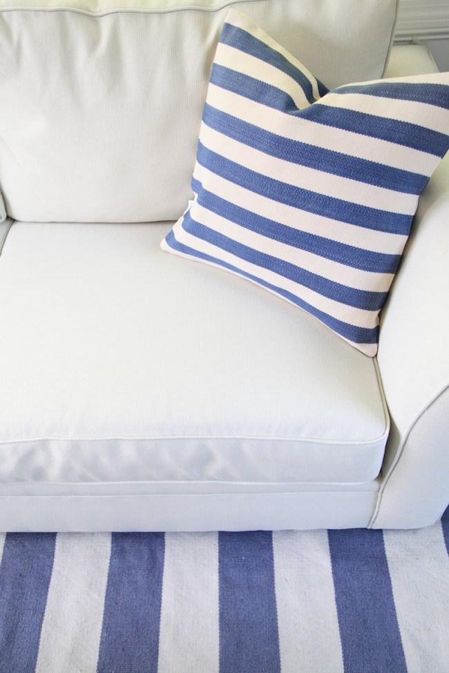 Dash and Albert Striped Pillow
