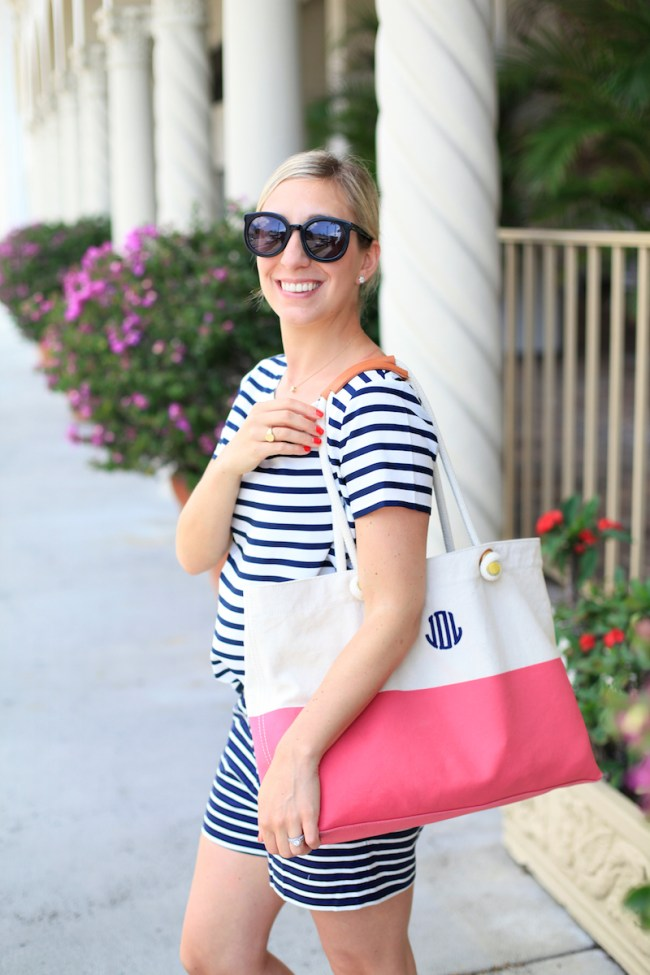 Julia Dzafic in Navy and Pink