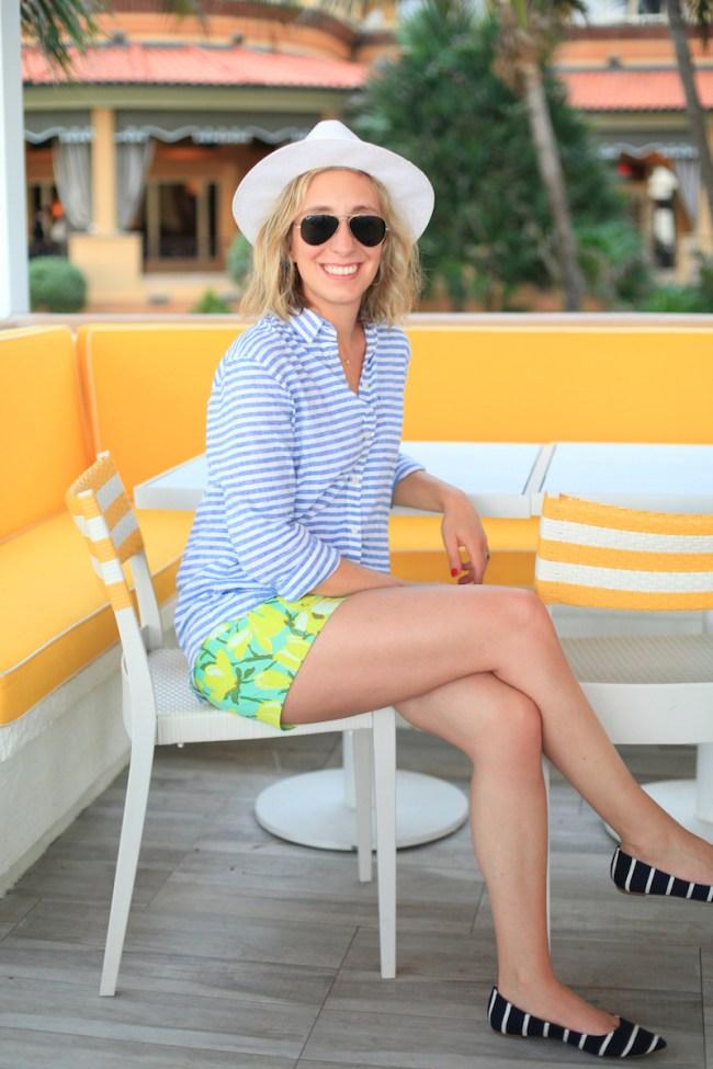 Lemon Stripes J.Crew in Palm Beach
