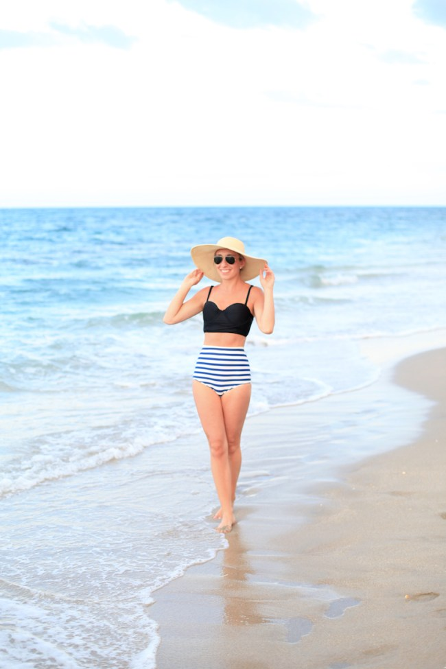 Lemon Stripes bathing suit