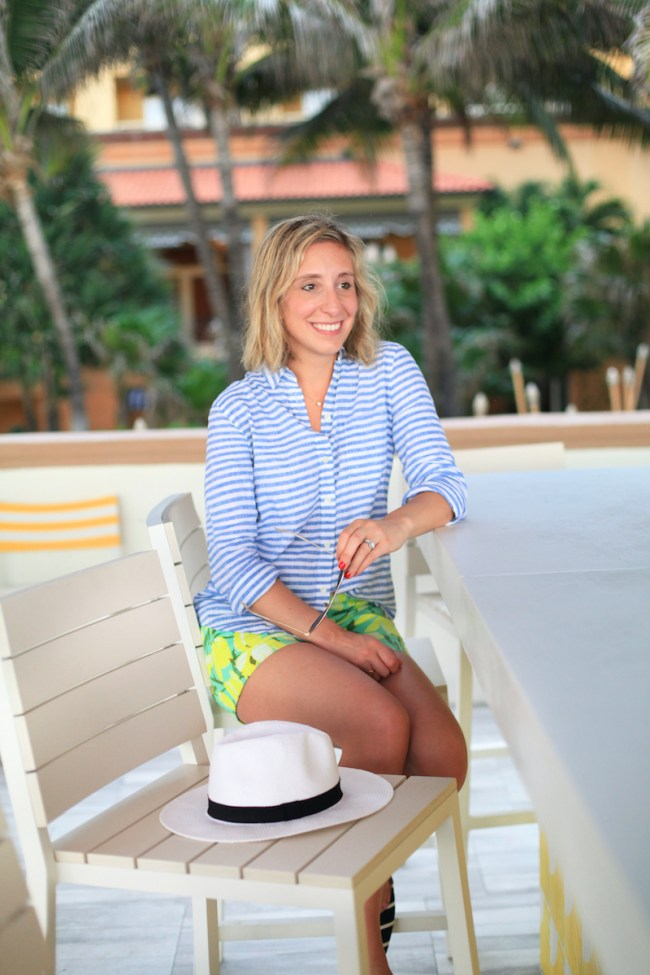 Lemon Stripes in Palm Beach