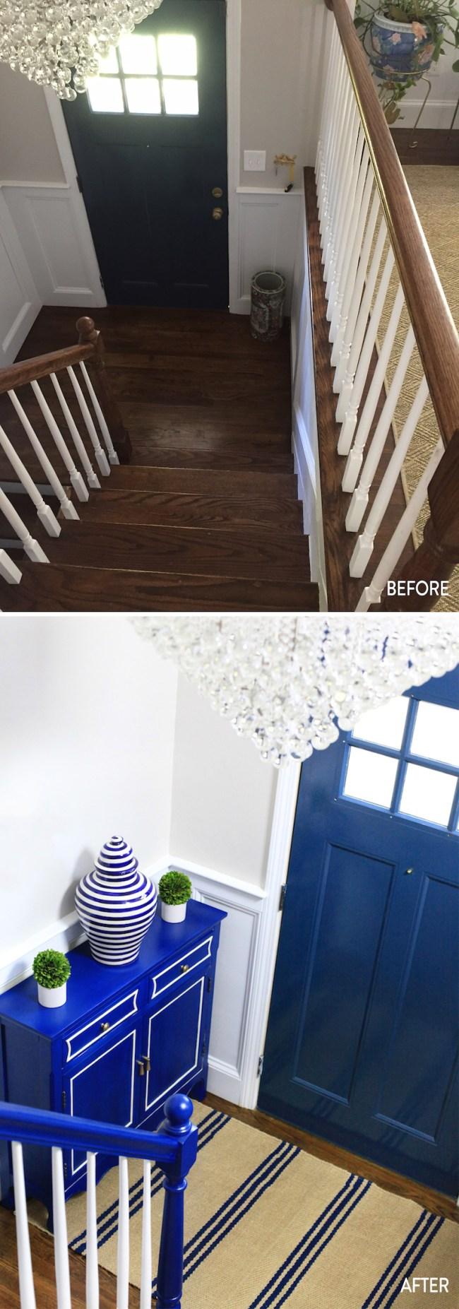 DIY Split Level Entryway
