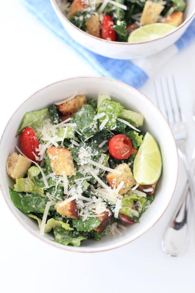 The Best Kale Caesar Salad