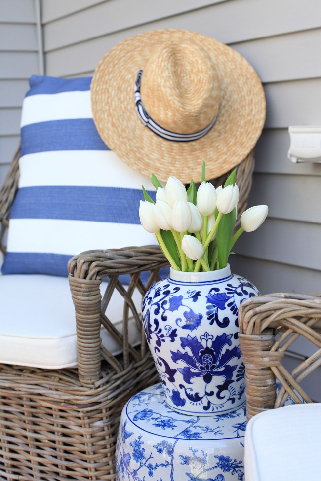 Blue and White Outdoor Furniture