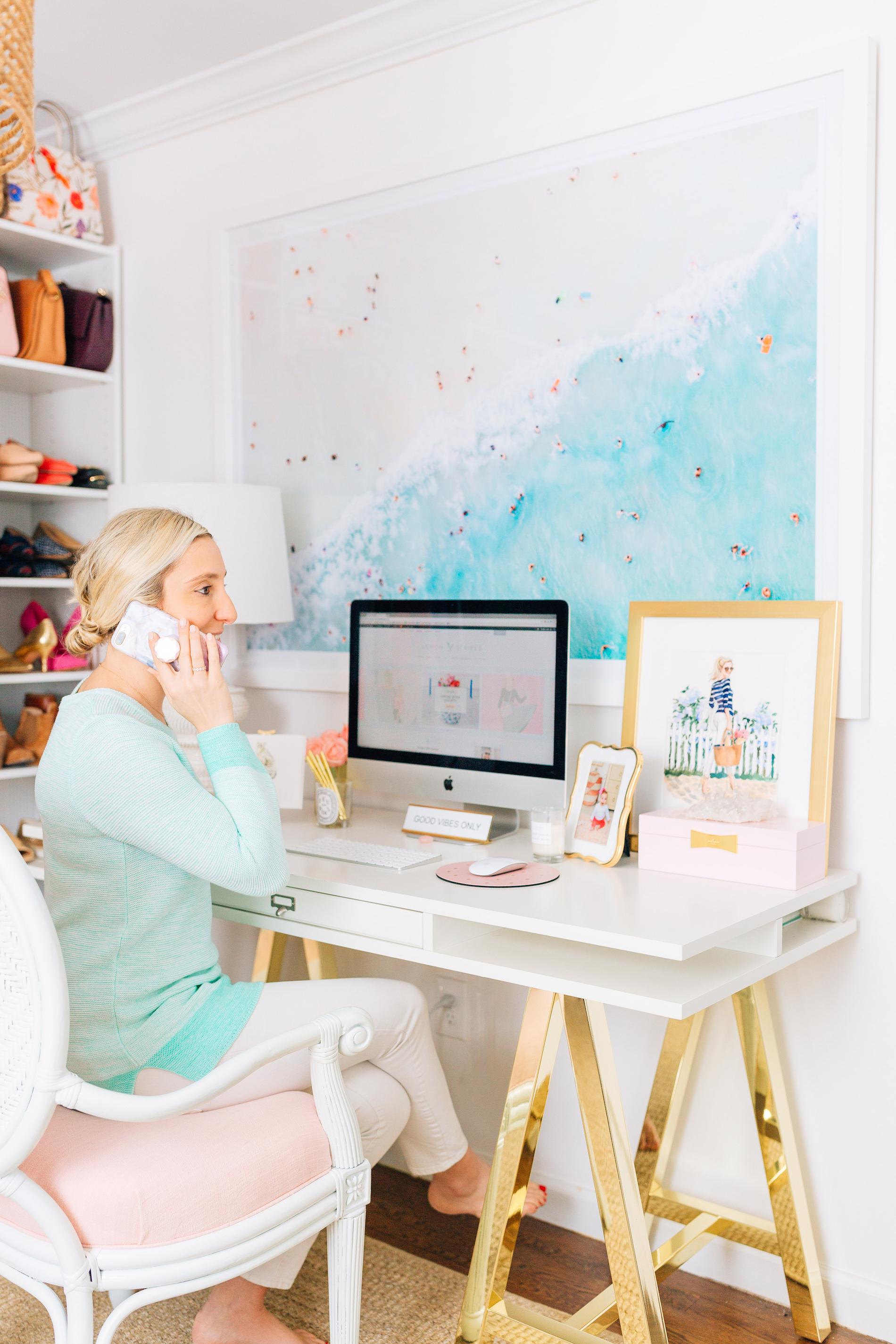 Lemon Stripes Home Office