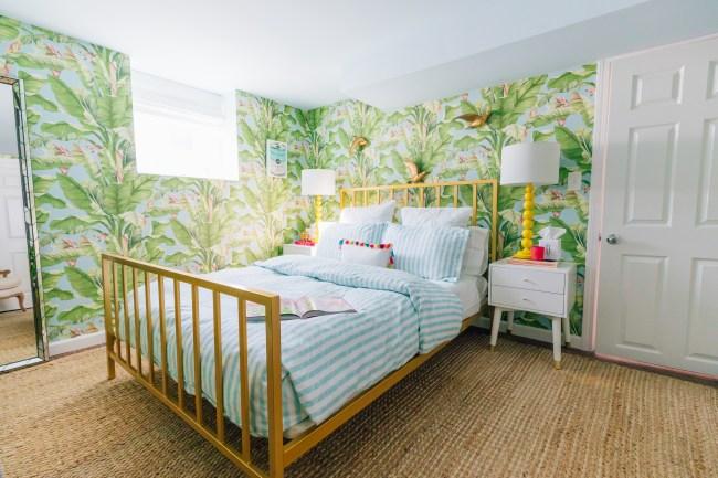 Lemon Stripes Guest Room