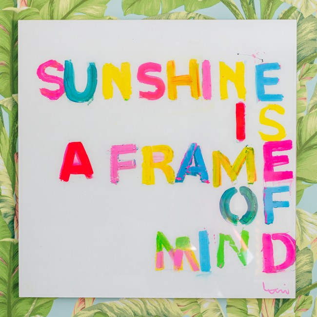 Kerri Rosenthal Sunshine is a Frame of Mind