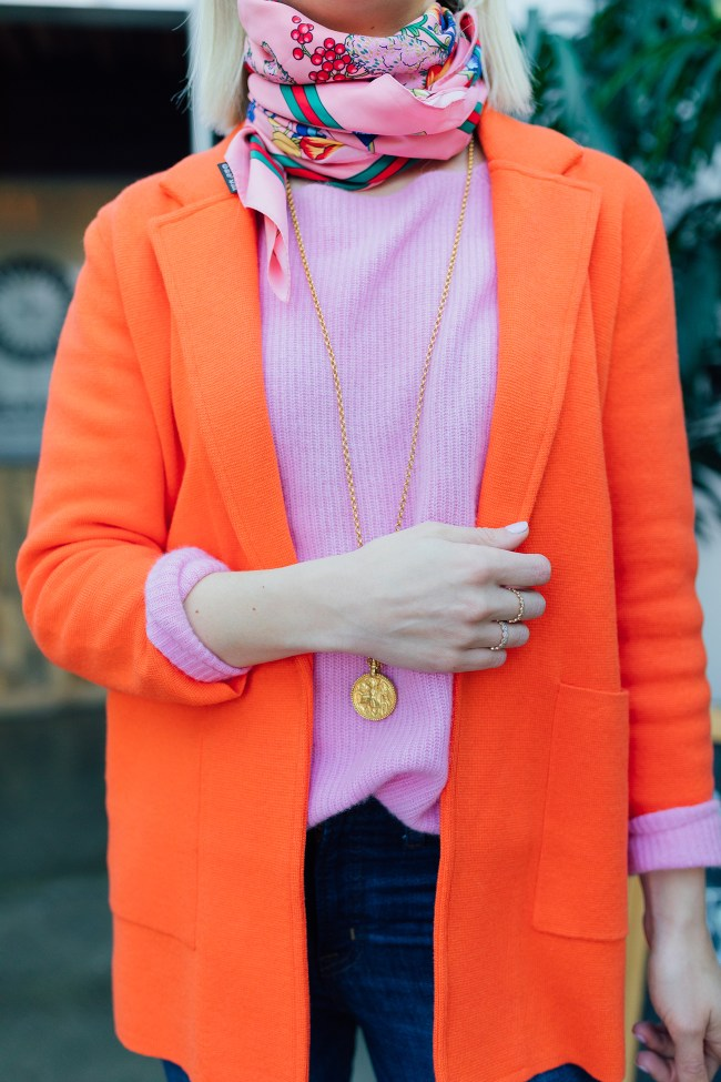 J.Crew Orange Sweater Blazer