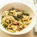 Pasta with Ham and Spring Vegetables, a recipe.