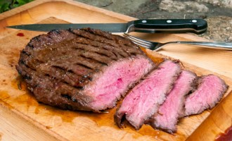 Grilled Sherry Marinated Flank Steak, a recipe.