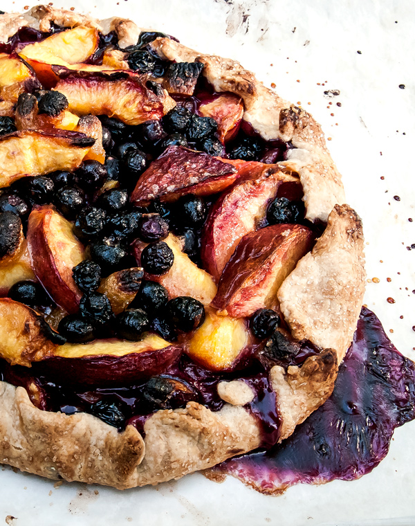 Nectarine and Blueberry Galette recipe