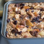 Baked Oatmeal with Apples and Apricots recipe