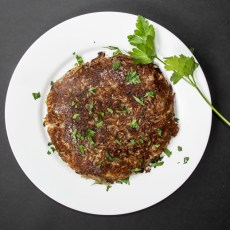 Rosti: Crispy Potato Pancakes with Mushrooms and Onions recipe