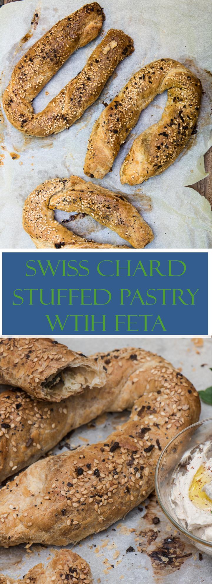 Swiss Chard Stuffed Pastry with Feta recipe