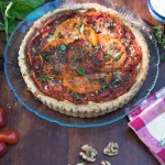 Tomato tart recipe with ricotta cheese and Mediterranean spices.
