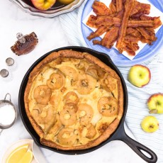 Smoky-Maple Apple Dutch Baby Pancake reicpe