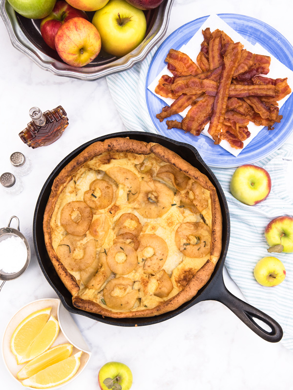 Smoky-Maple Apple Dutch Baby Pancake reicpe