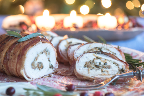 Turkey Breast Roulade with Fontina and Fennel Pollen, recipe.