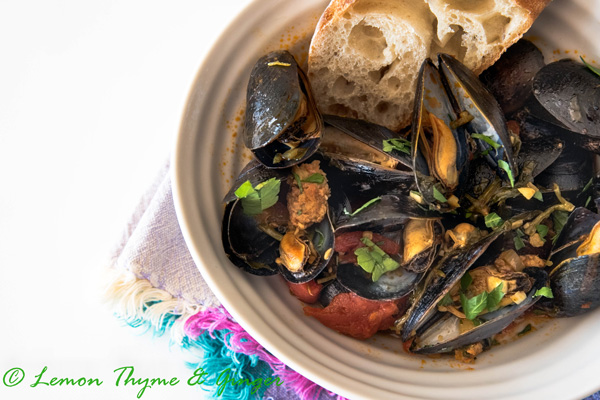 Earth Day Friendly Recipes, Spanish Style Mussels