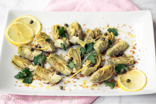 Braised Baby Artichokes with Mild Anchovy Sauce, a recipe.