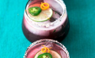 Raspberry Hibiscus Margarita with Jalapeno recipe.