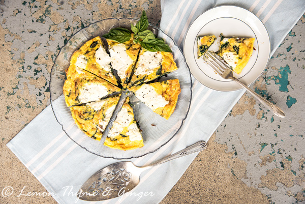 Spring spinach frittata with ricotta and recipe