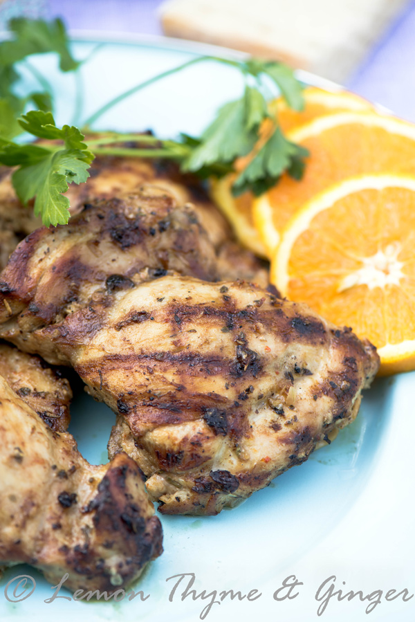 Grilled Chicken with Garlic Herb Marinade recipe.