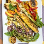 Hodgepodge of Grilled Vegetables Mediterranean Style. Recipe.