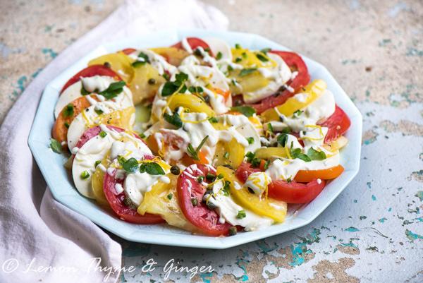 Creamy Tomato and Mozzarella Salad recipe.
