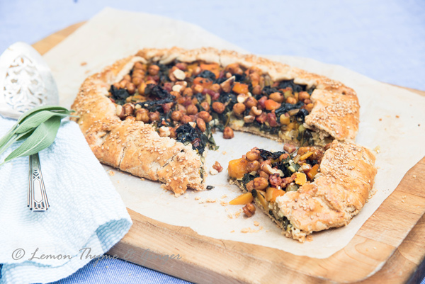 Savory Tart with Swiss Chard and Butternut Squash recipe.