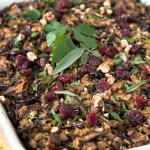 Wild Rice Stuffing with Mushrooms and Cranberries recipe.