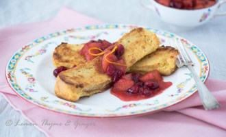 Baked French Toast with Apple Cranberry Compote recipe.