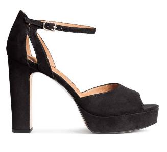 H&M black platform sandals 39,95€