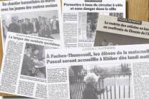 EXTRAITS D'ARTICLES JOURNAL LA VOIX DU NORD - édition Villeneuve d'Ascq / 2006 à 2009