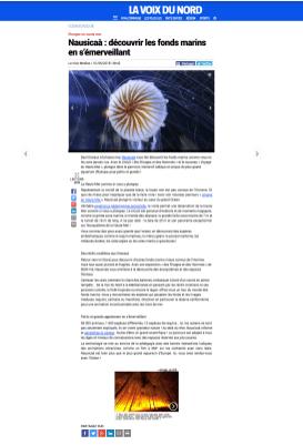 """RÉDACTION 2 ARTICLES POUR DOSSIER NAUSICAA- article """"découverte des fonds marins"""" - MAI 2018"""