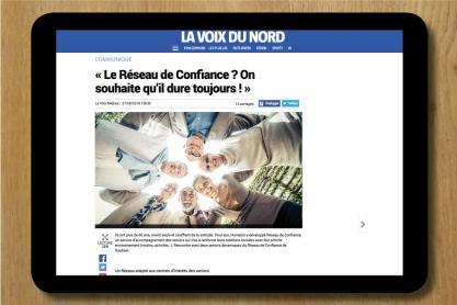 WEBCOMMUNIQUÉ SUR RÉSEAU DE CONFIANCE HUMANIS / LA VOIX DU NORD 2018