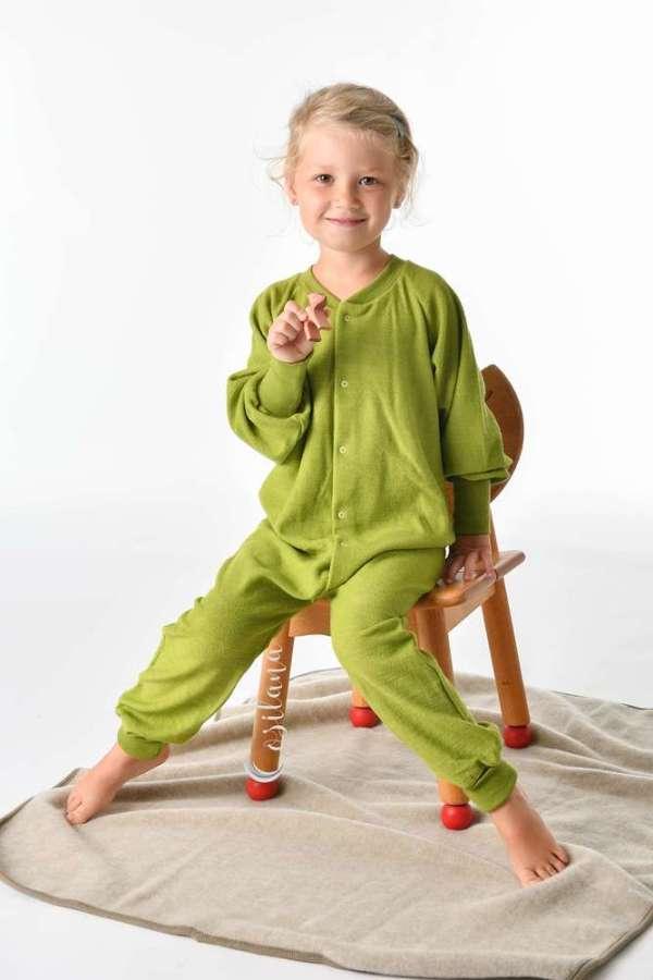 Pyjama enfant laine bio sans pieds