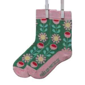 Fraulein-Prusselise_chaussettes-enfants_coton-bio_fleurs