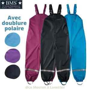 BMS-antartic_salopette-hiver_impermeable-enfant-cire-oekotex_doublure_polaire