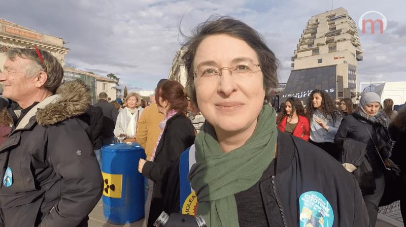 Muriel Ressiguier, lors de la votation nucléaire, en mars 2018
