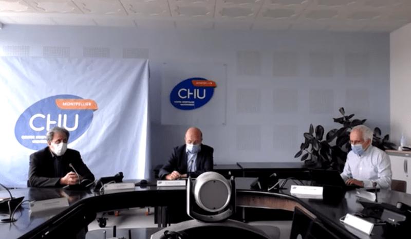CHU de Montpellier, point presse du 24 avril 2020