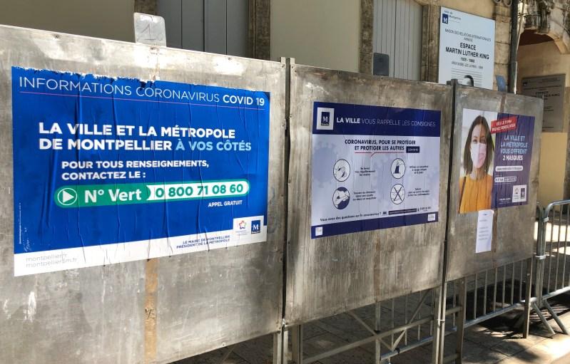 Panneaux électoraux Montpellier Saurel